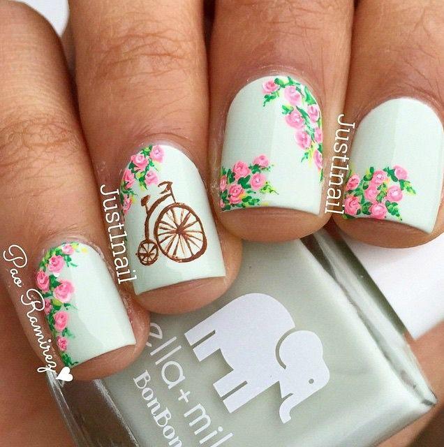 +70 Fotos de uñas decoradas para el verano \u2013 Summer Nail Art