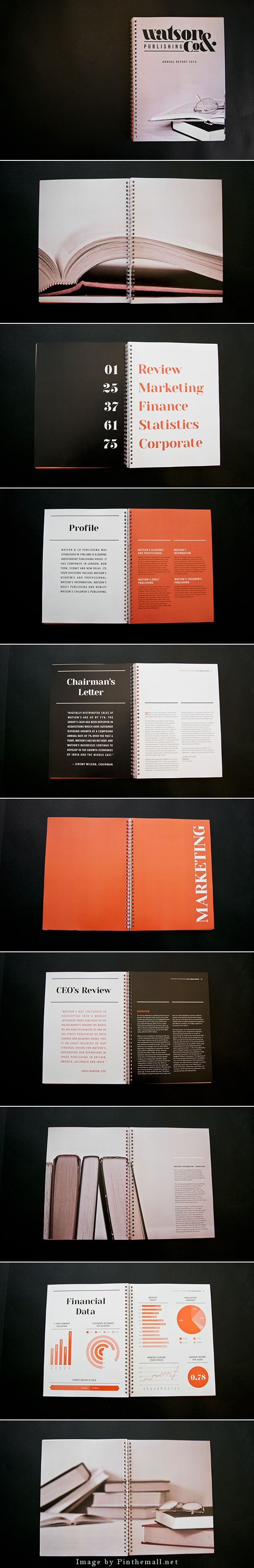 Watson Co Annual Report by Melissa Hawkett.