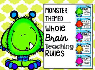 {Freebie} Whole Brain Teaching Rules - Monster Themed