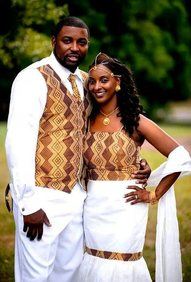 Ethiopian Or Eritrean Couple African Attire African