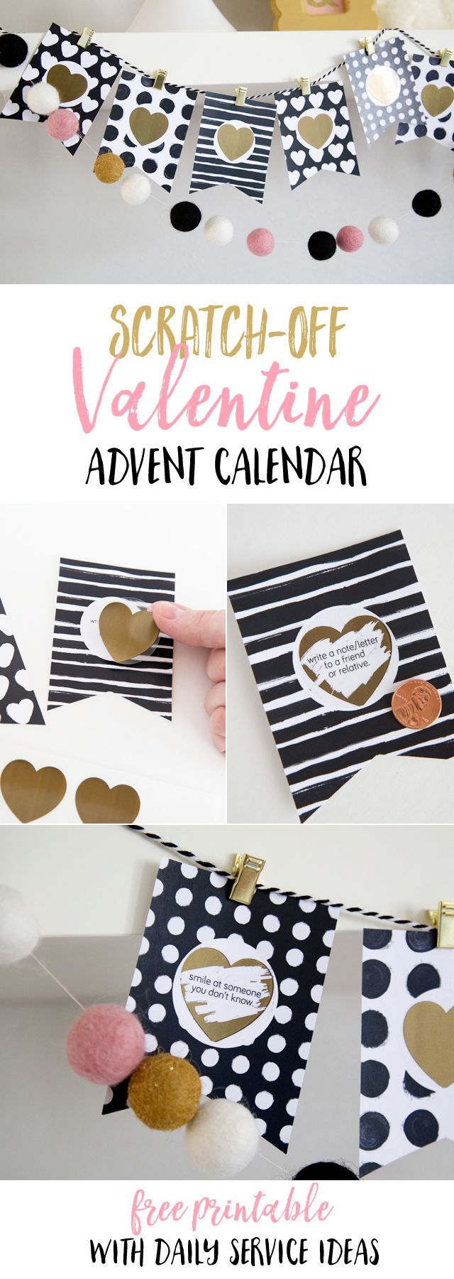 Make an advent calendar with daily ways to show love and give service! Perfect for the weeks before Valentine's day!