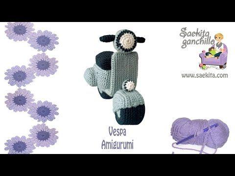 Vespa Ganchillo / Vespa Crochet * Parte 1: Chasis Vespa * Saekita Ganchillo - YouTube