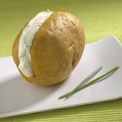 Pommes de terre en papillote, crème ciboulette - une recette Barbecue - Cuisine