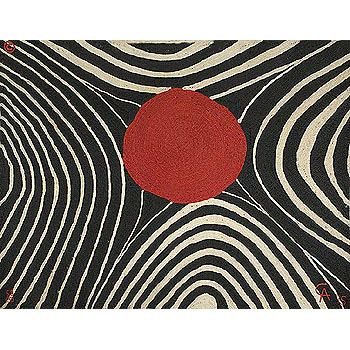 Alexander Calder: Zebra Wall Weaving Signed and Numbered Edition, designed by Calder but woven by indigenous people in Guatemala in the 1970's