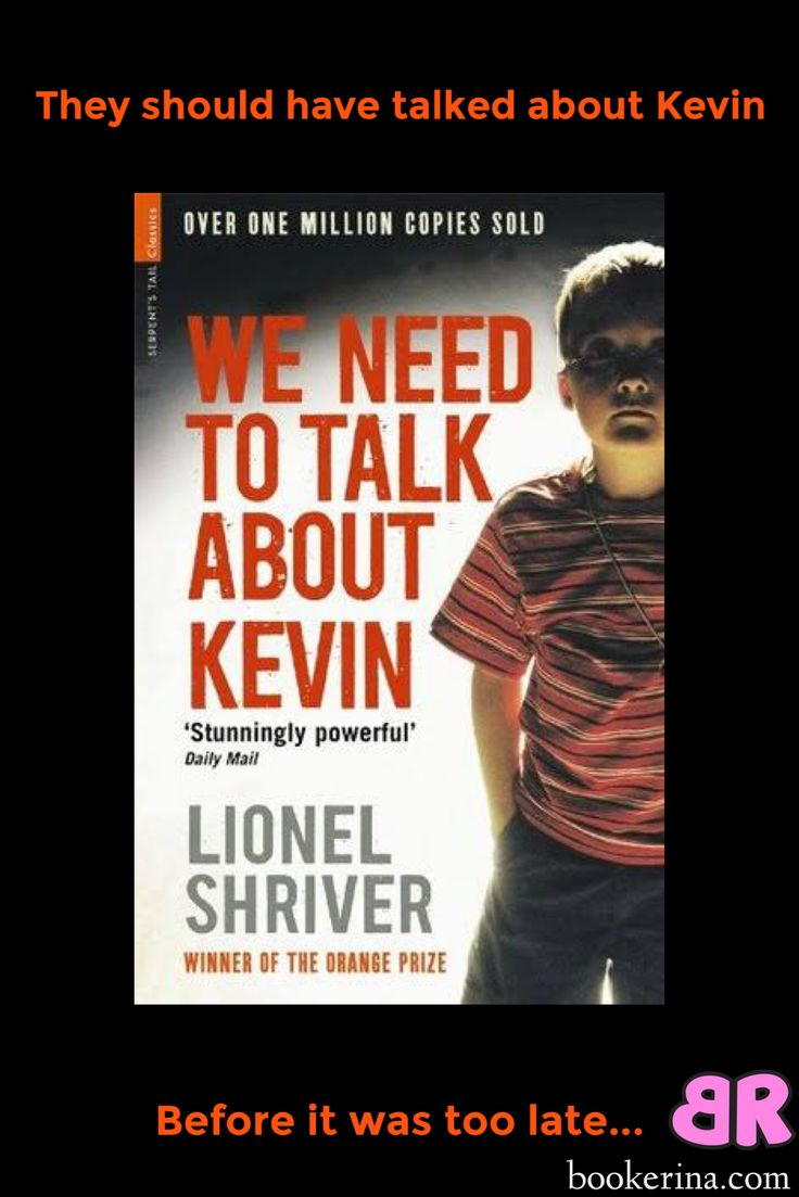 They should have talked about Kevin before it was too late. bookerina.com book reviews.