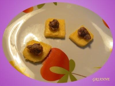 Stuzzichini di polenta e salsiccia