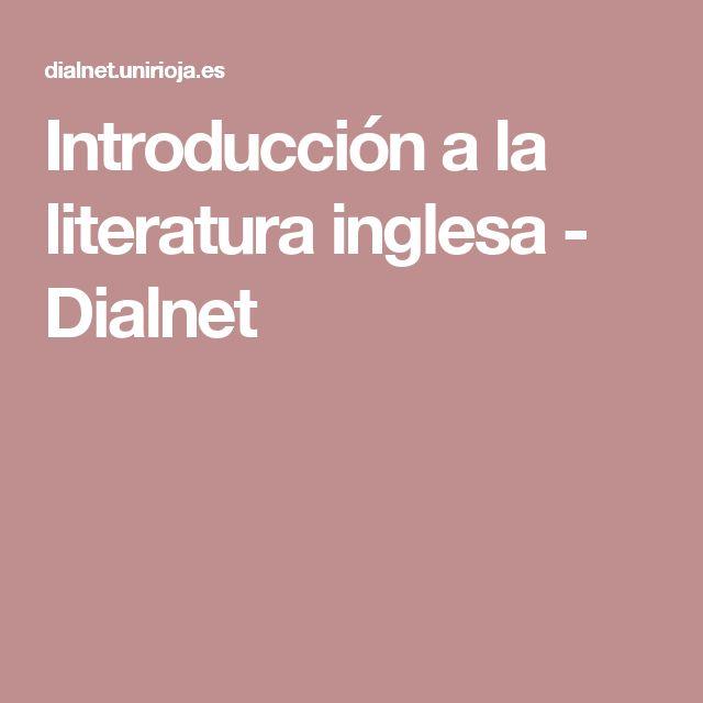 Introducción a la literatura inglesa - Dialnet