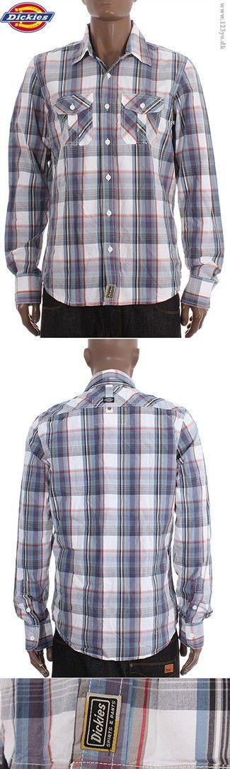 DICKIES Langærmet Cotton skjorte