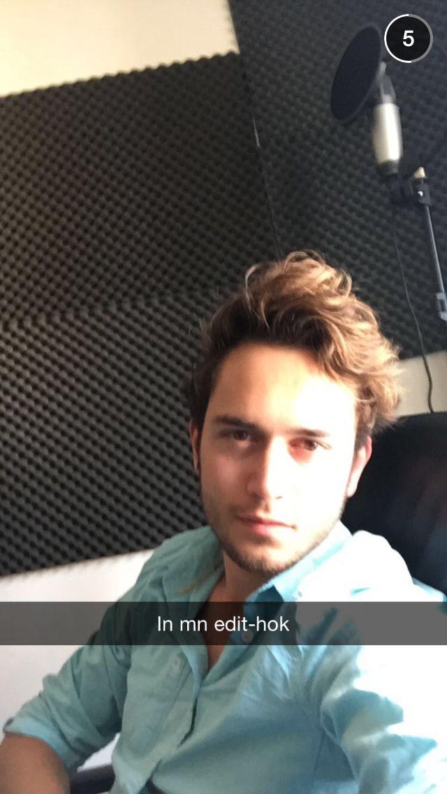In de studio voor de nieuwe opnames