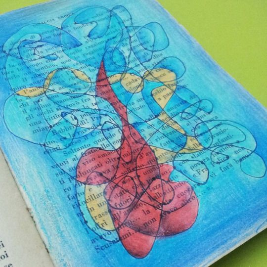 Art journal, Mixed Media para el desafio creativo #MartesDeMixedMedia