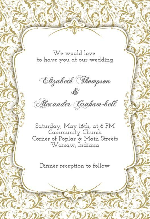 Best 25+ Free wedding invitation templates ideas on Pinterest - invitation blank template