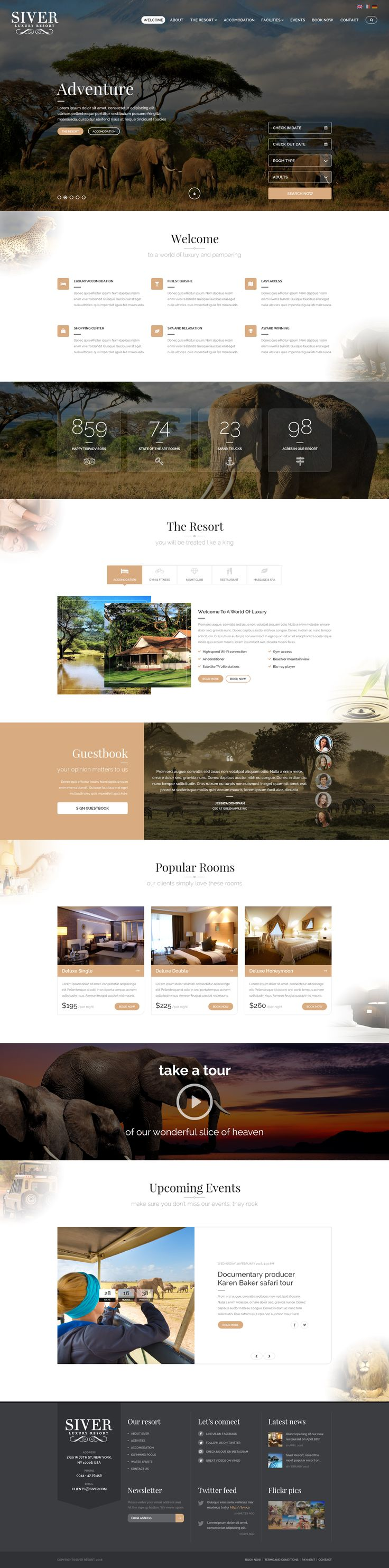 Siver Luxury Resort PSD Template 1409