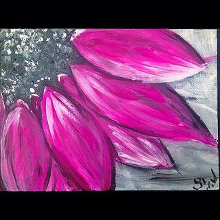 #3 #art #acrylic #paint #flower #painting #handmade #purple #blackandwhite #picture #Strelnikova  #strelnikovajulia #strjulli http://vk.com/strelnikova.julia