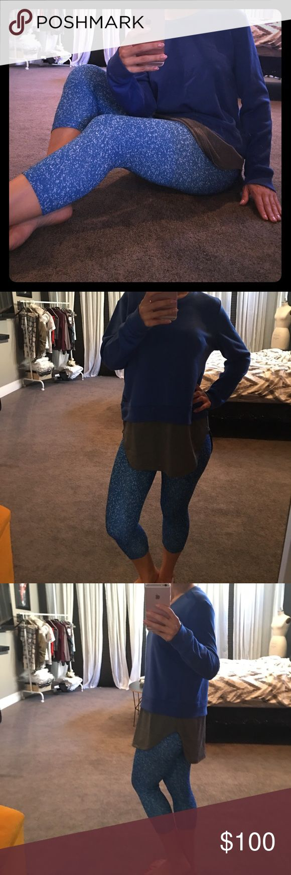 Adidas Leggings & Sweater Bundle Brand new with tags authentic Adidas outfit. Crop leggings and sweater! Very dope! Adidas Tops Sweatshirts & Hoodies