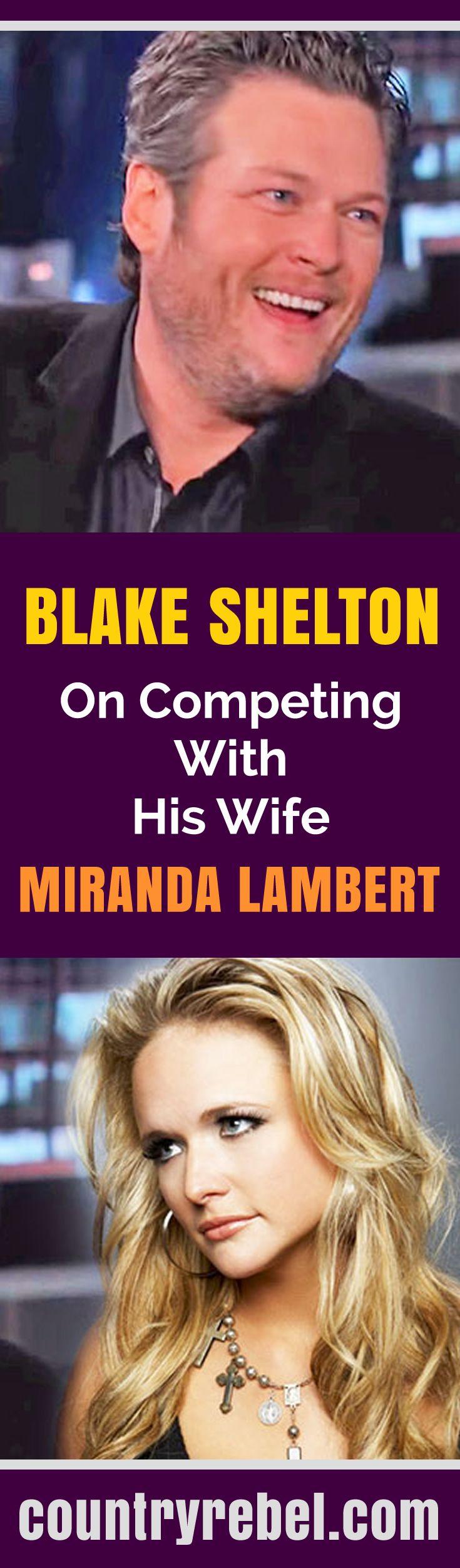 Blake Shelton Talks About Competing With His Wife Miranda Lambert on Jimmy Kimmel Live