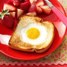 """Toad in the Hole Recipe -This is one of the first recipes I had my children prepare when they were learning to cook. My """"little ones"""" are now grown (and have advanced to more difficult recipes!), but this continues to be a traditional standby in my home and theirs. —Ruth Lechleiter, Breckenridge, Minnesota"""