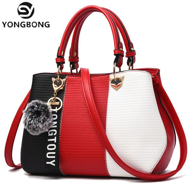 YONGBONG New Arrival Women Messenger Bag patchwork Top Handbag Ladies  inclined shoulder woman bags handbags women aaf438219b9f4