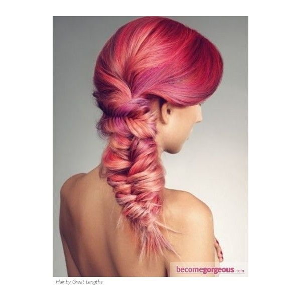 Vibrant Pink Hair Highlights Ideas ❤ liked on Polyvore featuring beauty products, haircare and hair
