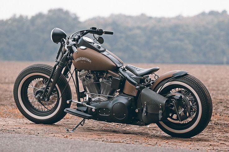 Maik's Personal Brown Sugar • Custombike & Harley-Davidson Gallery – Bobber Designs