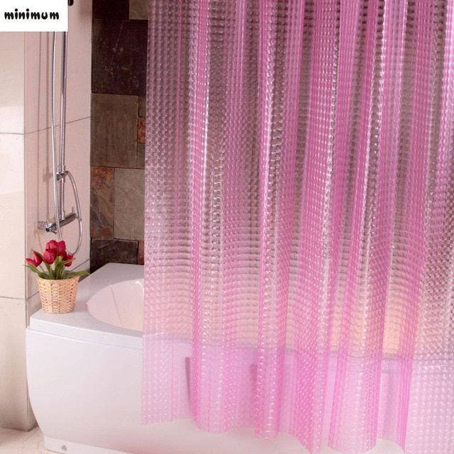 3d Crystal Thicker Shower Curtains Eva Translucent Plastic
