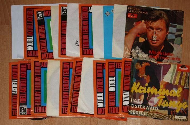 """Vinyl Sammlung + Schlager Deutsch + 7"""" Singles + Hazy Osterwald, Richard, Hinnen"""