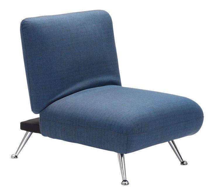 Zuo Modern Bizard Sleeper Chair Bizard Sleeper Chair Cowboy Blue Furniture Seating Side Chairs
