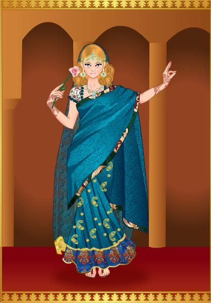 Princesa Ana en traje Indu
