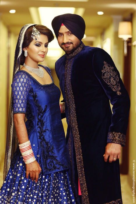 Harbhajan Singh and Geeta Basra's grainy Instagram pictures have been making the rounds but you know that at WMG, we get the real deal. So we got the cool couple's  exclusive pictures from the happy guys at Israni Photography.