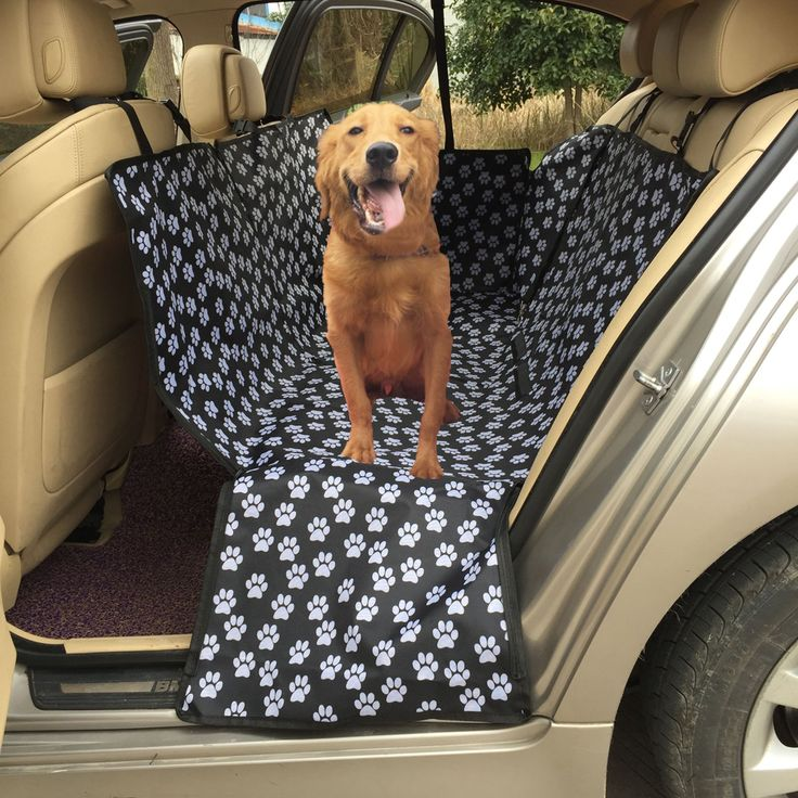 Hot Footprint Dog Carriers Paw pattern Car Pet Seat Cover Waterproof Back Bench Seat Travel Accessories Car Seat for Pets Dogs