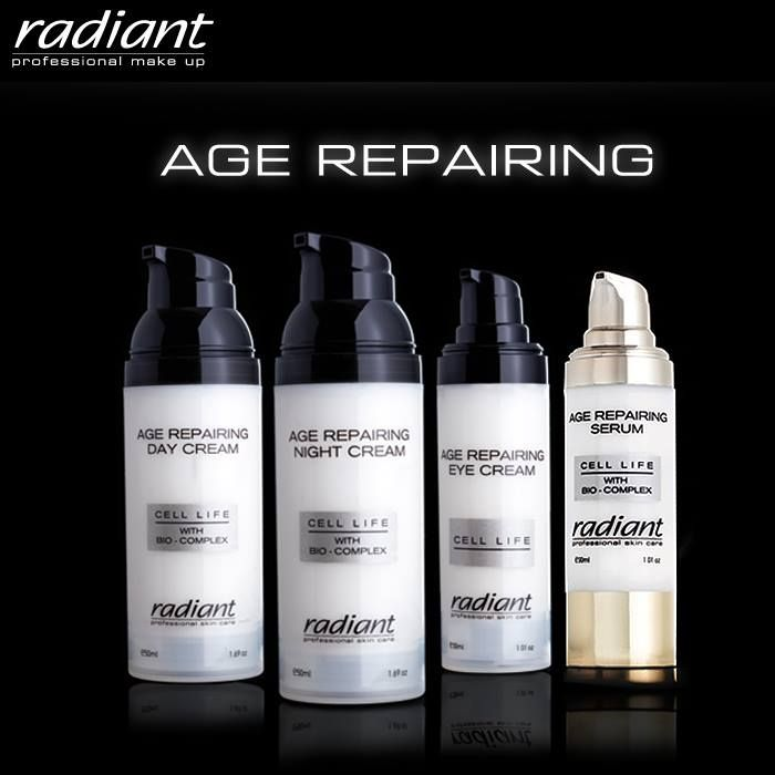 The #Age #Repairing line has a #revolutionary #formula which stimulates the production of #collagen and #elastine and decelerates the #skin #aging process.