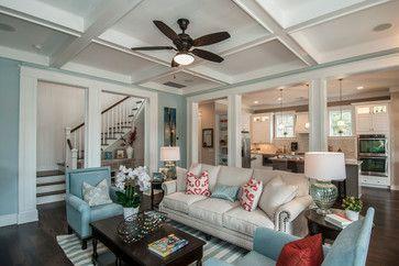 Living Room Sherwin Williams Sw 6218 Tradewind Flat