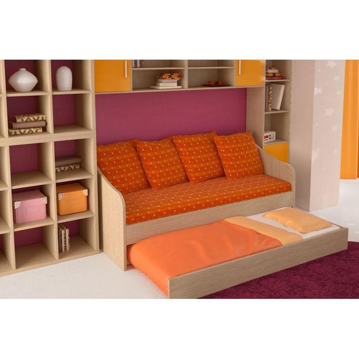 Κρεβάτι - καναπές SILKY με συρρόμενο κρεβάτι σε διάφορα χρώματα 190x80εκ.