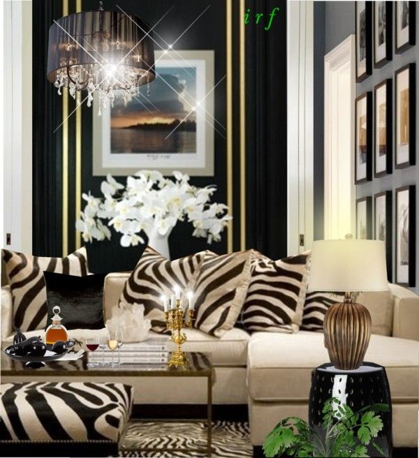 Living room zebra print interior design for Animal print living room decorating ideas