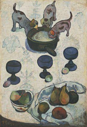 Paul Gauguin, NATURA MORTA CON TRE CANI, 1888, 92 cm x 63 cm, Colore ad olio, MoMA