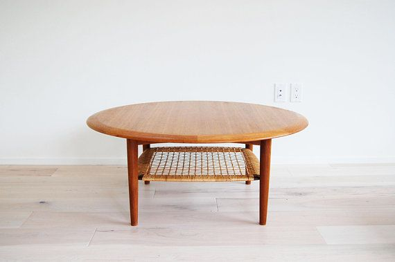 Round Danish Teak Coffee Table
