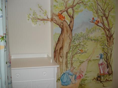 Beatrix potter mural stickers peter rabbit decal peter - Peter rabbit nursery border ...