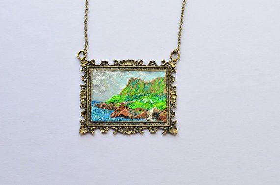 Collana con paesaggio irlandese