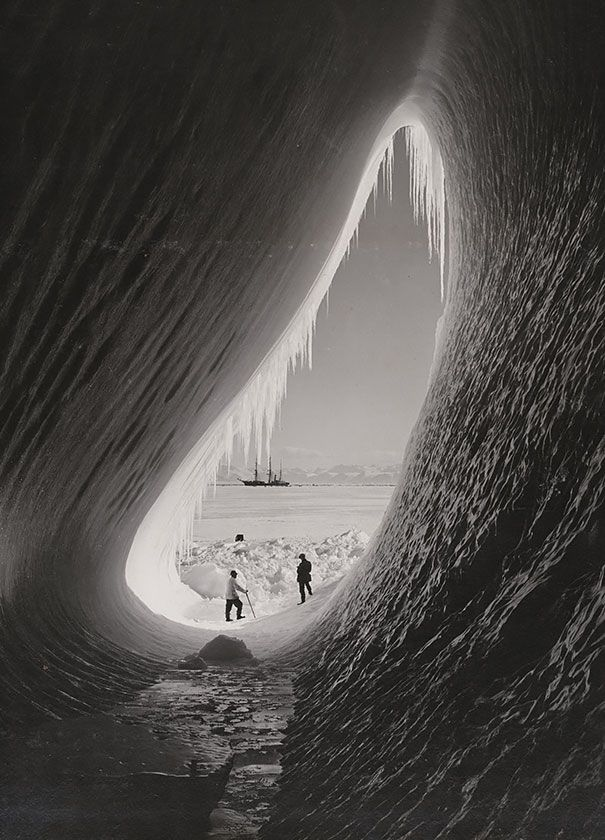 Grotto In An Iceberg, Photographed During The British Antarctic Expedition, 5 Jan 1911.