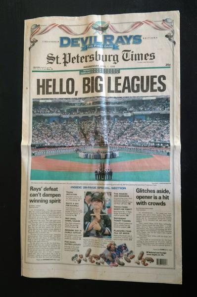 Set of 2 Inaugural Devil Rays Tampa Bay Rays Baseball Newspapers
