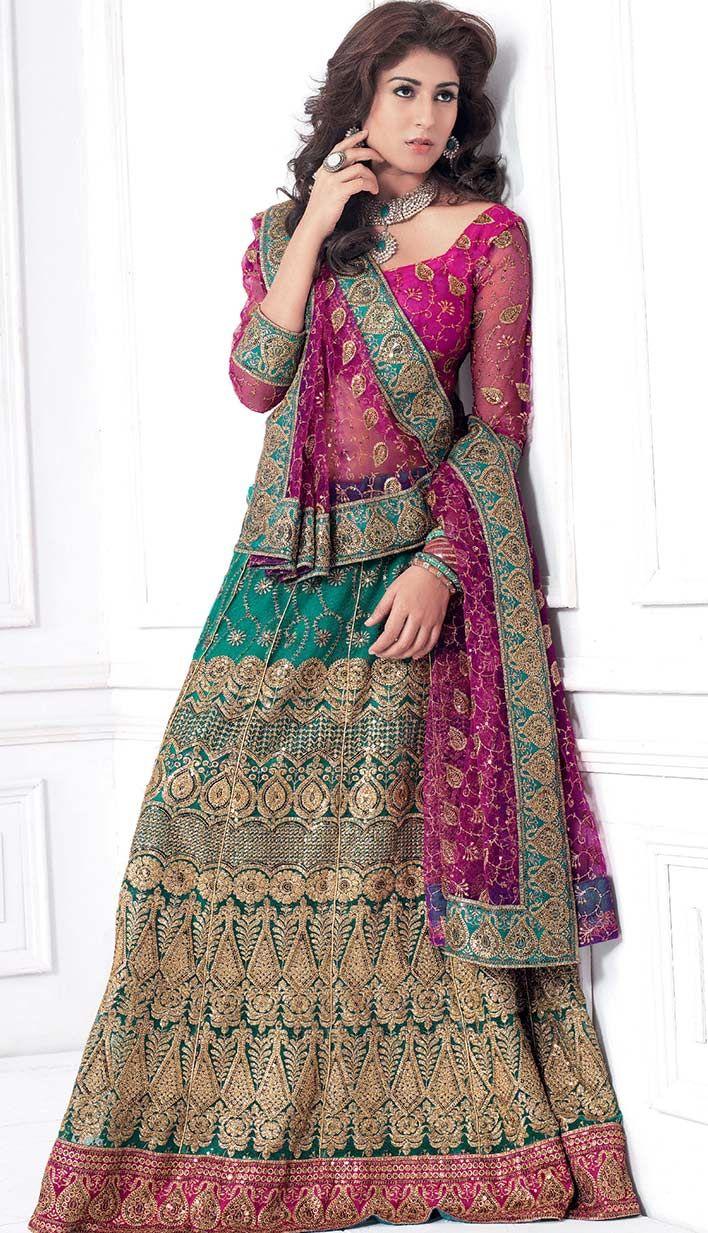 Buy Online Latest Fashionable Bridal Wear Lehenge Choli-  #Price: INR-4651 #LatestLehengeCholi Link- http://tinyurl.com/n9mdc9z
