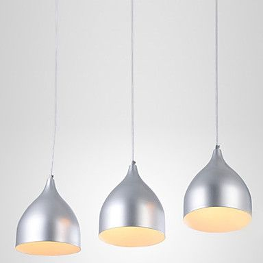 Modern Stylish Brief 3 Light Pendant with White Light Shade - AUD $ 118.77