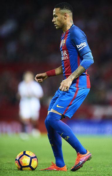 Neymar Jr of FC Barcelona in action during the match between Sevilla FC vs FC Barcelona as part of La Liga at Ramon Sanchez Pizjuan Stadium on November 6, 2016 in Seville, Spain.