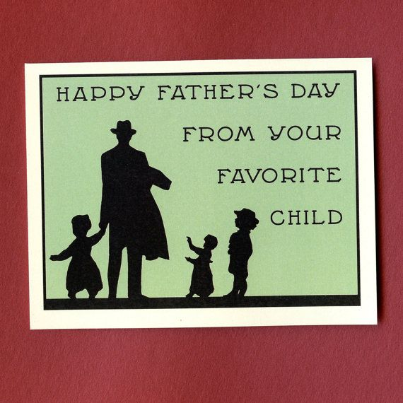 Funny Father's Day Card  YOUR FAVORITE CHILD  by seasandpeas, $4.25