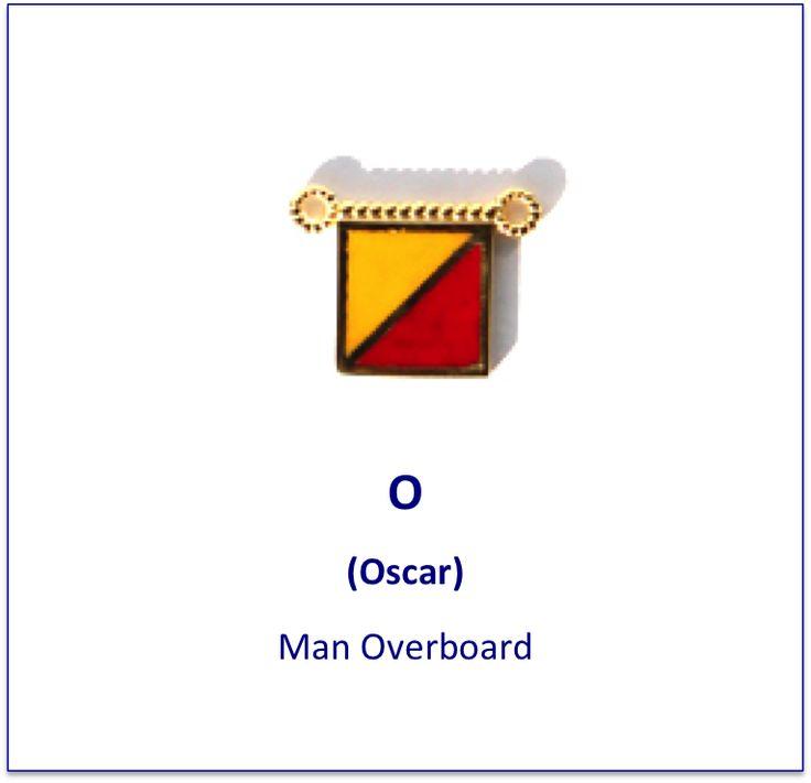 O (Oscar) signal flag charm