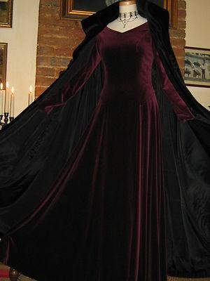 Laura Ashley Vintage Velvet Victorian Style Cape Cloak Coat Medium Large | eBay
