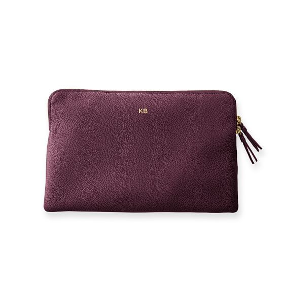 Daily Leather Zip Pouch   Mark and Graham