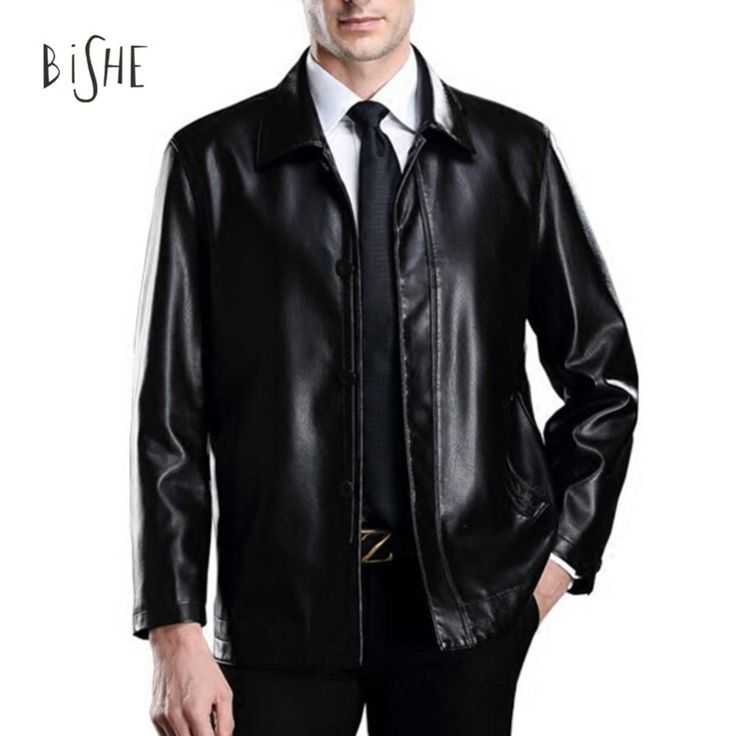 Fashion Men's Fall Business Casual Autumn Vintage Blazer Style PU Faux Leather Long Coat Cool Jackets For Male Moto Jas Lederen