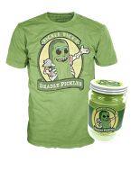 Funko Pop Wave!: Pickle Rick Pop! Tee in Jar!. Camiseta en un tarro...