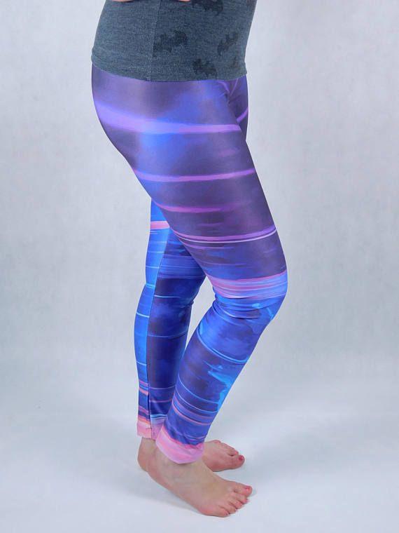 Retrowave leggings vaporwave leggings festival leggings