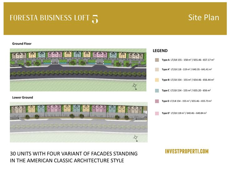 Foresta Business Loft 5 Site Plan.